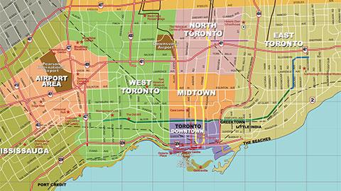 Toronto map