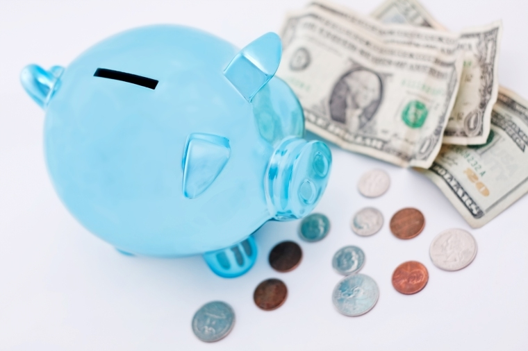 Blue Piggy Bank_7905