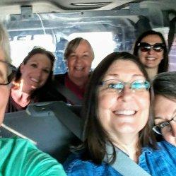 Heading to the airport with @judemadeit, @runandsew,@elisemakler, @oceanannie123, @quilts2sew